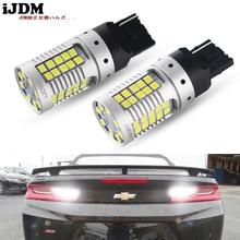 2 sztuk błąd Canbus darmo 21W 55 SMD 3030 7440 7444 T20 W21W zapasowe żarówki LED na Euro samochód dodatkowe światła cofania, samochód led