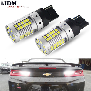 Image 1 - 2pcs Canbus Error Free 21W 55 SMD 3030 7440 7444 T20 W21W LED Replacement Bulbs For Euro Car Backup Reverse Lights,Car led