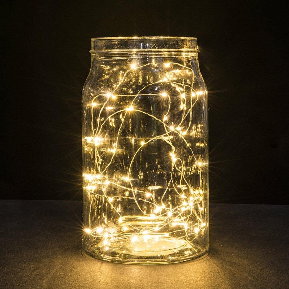 3 м 30LED клетки кнопки питание серебро Медный провод мини Фея Строка светильники лампы для дома Декор сада Lights Прямая доставка