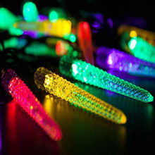 DCOO LED Solar String Lights Corn Design Patio Light For Festival Holiday Party Home Decorative Lichterkette Street Garland(China)