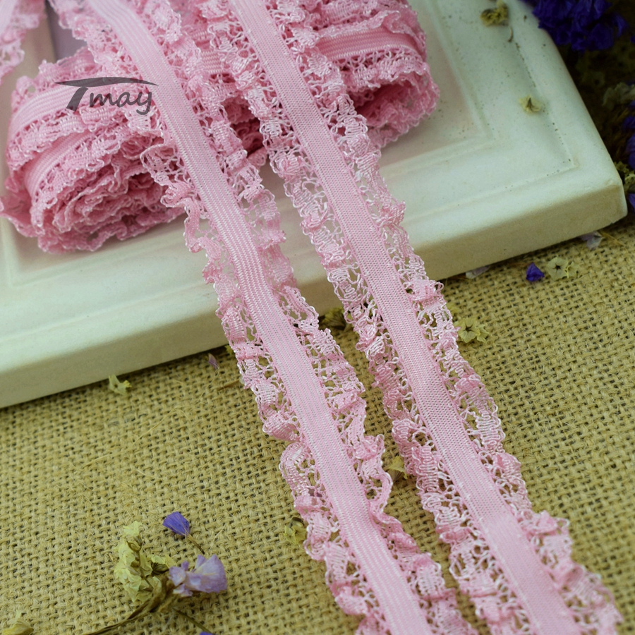 5 Metres Peach Lace Ribbon Trim Scalloped Edge 22mm Wide Lace BUY 2 GET 1 FREE