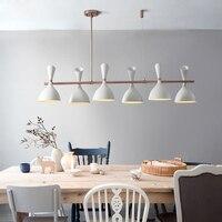 Дизайнер Ресторан подвесные светильники просто постмодерн Творческий кафе обеденный стол Бар Nordic подвесные светильники дерево