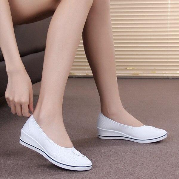 Nuevas Cuñas de Las Mujeres Zapatos de la Enfermera Zapatos de Las Señoras de La