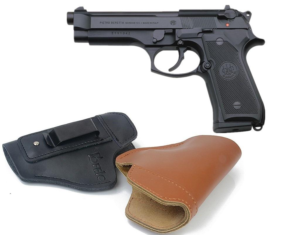 in black or tan BERETTA FIREARMS//GUNS//PISTOLS  Real Leather Key Rings