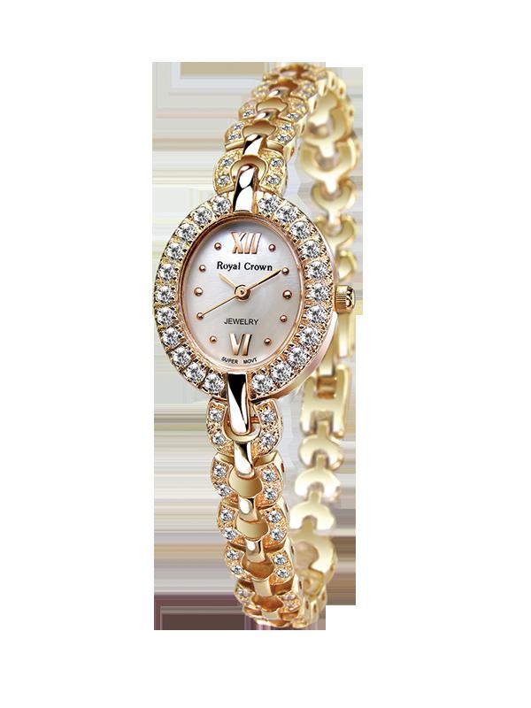 Royal Crown Jewelry Watch 2100B Italy brand Diamond Japan MIYOTA Rose gold Lady Women's Watch Japan Quartz volleyball men s world championship 2018 italy japan