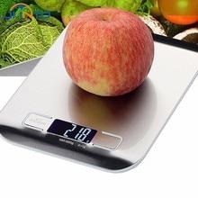 5 kg/1g Edelstahl Led-bildschirm Elektronische Digitalwaage Lebensmittel Gewichtung Balance Werkzeuge Küche Kochen Backen Messen gerät