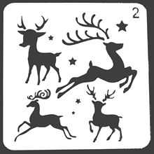 Merry Christmas Deer Stencils For Painting Scrapbooking Stamp Cake Decorating Tool Embossing Paper Cards Album DIY Decoration