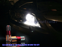 2pcs X 6W 57SMD W5W Car LED Parking/Position bulbs White/Blue/Ice Blue for Volkswagen VW Polo 6N 6N2 9N 9N3 TDI GTI