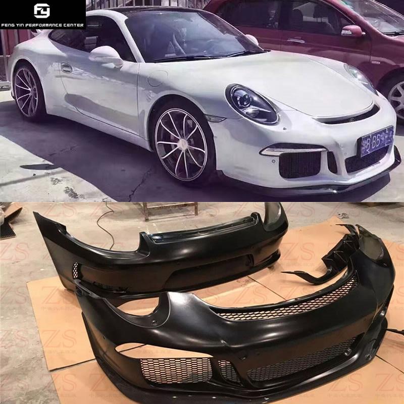 911 991 estilo GT3 parachoques delantero parachoques trasero alerón trasero para Porsche 911 Carrera 991 estilo GT3 kit de carrocería de coche 13-15