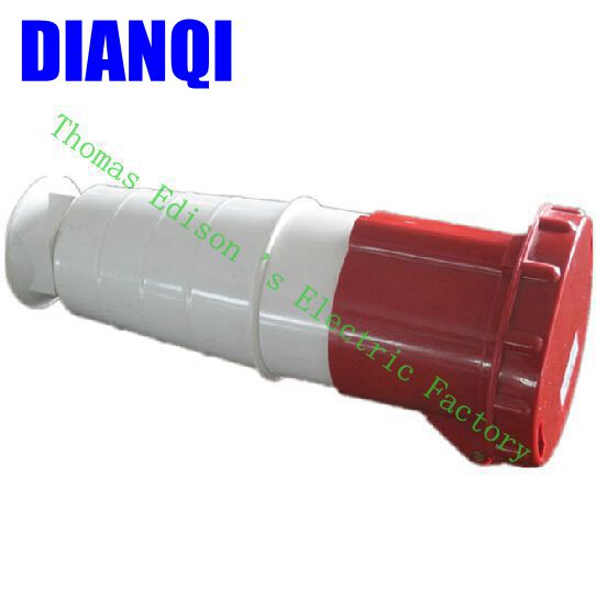 Industrial Coupler Socket Plug 234 CNQD-234 Red 63A 220V~415V 3P+E 4pin 10PCS/carton high quality ac 360 415v 16a ie 0140 4p e free hanging industrial plug red white