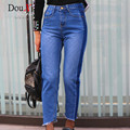 New High Waist Jeans Full Length Trousers elastic Skinny Jeans female pencil pants woman jeans women Slim Fashion Denim Blue