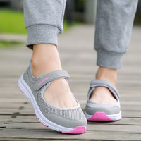 MWY Women Breathable Casual Shoes New Women S Soft Soles Flat Shoes Fashion Air Mesh Summer