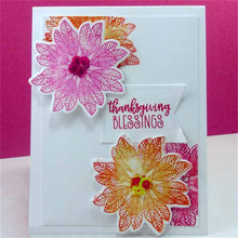 YaMinSanNio 16Pcs/lot Flower Clear Stamps For Scrapbooking Card Making Album Autumn Blessings Letter Stamps New 2019