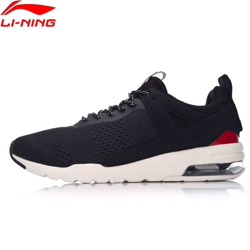 Li-Ning Men Essential Pacer Air Cushion Walking Shoes Sports Life Leisure Breathable Sneakers LiNing Sport Shoes GLKM093 YXB090