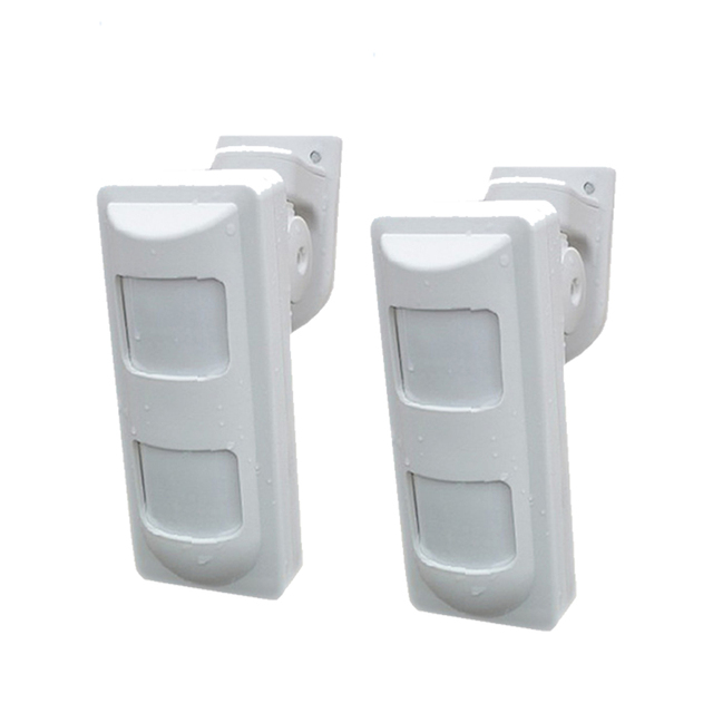 2pcs Wired Dual Pir Microwave Motion Sensor Detector Outdoor Waterproof Pet Friendly Wide Angle Curtain For Home Alarme