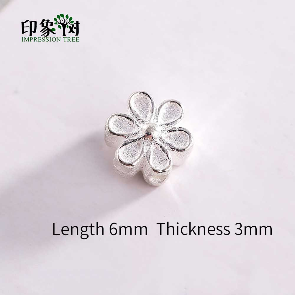 1Pc 6x3mm 925 Sterling Silver Connectors Spacer Beads Hexapetalous Shape Connectors For Necklace DIY Jewelry Makings 92554