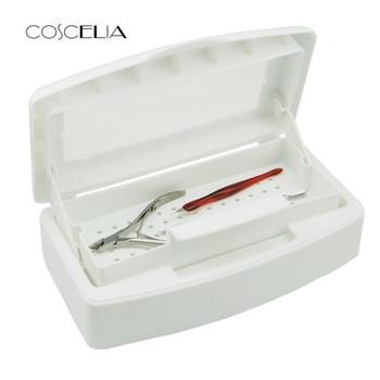 Nuovo Del Chiodo Sterilizzatore Vassoio Disinfezione Pedicure Manicure Scatola di Chiodi di Arte Scatole di Sterilizzazione Strumenti del Salone di Manicure Implementare Strumento