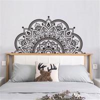 Mandala in Halbe Wand Aufkleber Meditation Yoga Wand Kunst Wohnzimmer Boho Mandala Blume Wand Aufkleber Kopfteil Schlafzimmer Dekoration