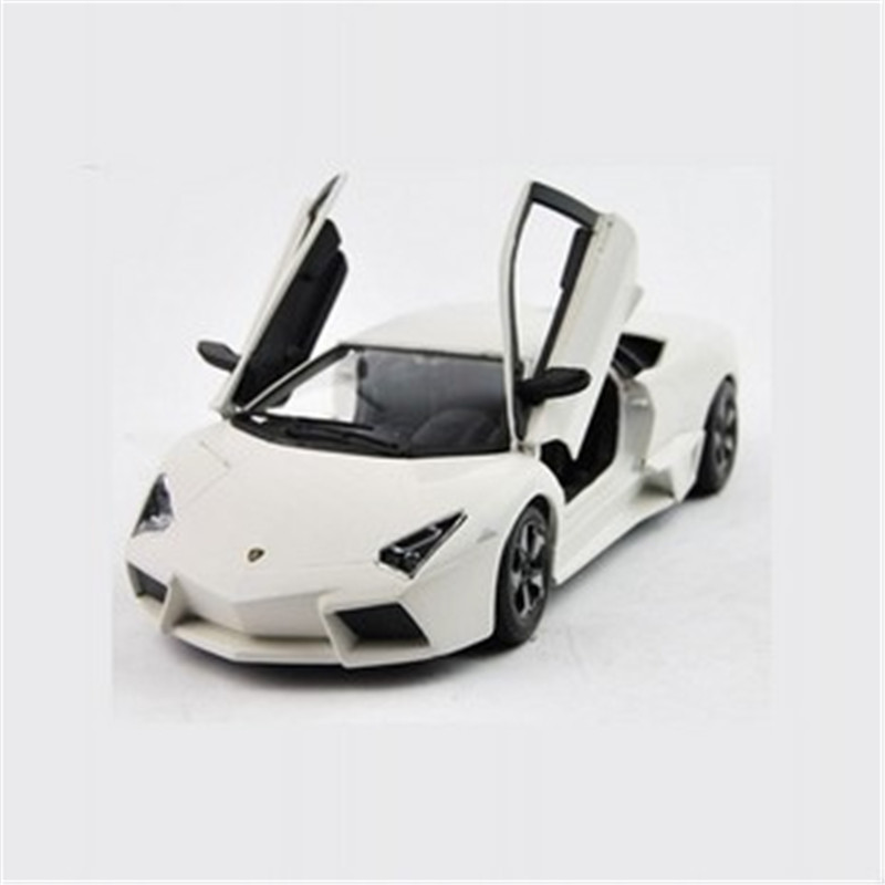 Hot Sale 1:24 Lei Wen LP640 White Alloy Car Model Toy High Simulation bat High Simulaiton Super Roadster Kids Gifts