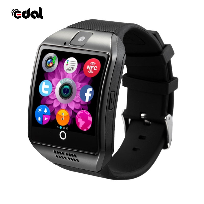 EDAL Q18 Astuto guarda con il Touch Screen fotocamera TF card Bluetooth smartwatch per Android IOS Phone