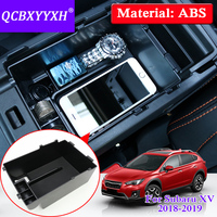 QCBXYYXH Car Styling For Subaru XV 2018 2019 Car Center Console Armrest Storage Box Covers Interior Decoration Accessories