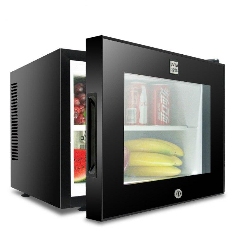 20L Small Refrigerator For Hotel Room Dormitory Mute Dual-core Mini Freezer Cold Cake Showcase Portable Mini Fridge Cooler Box