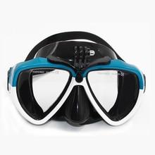 """טלסין צלילה מסכת Div לשחות משקפי משקפיים ציוד ערכת עבור GoPro גיבור 7 6 5 שחור Xiaomi יי ש""""י eken פעולה מצלמה accesorios"""