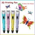 Impresora 3d Pluma Mejor Niños DIY Regalo Caliente Del Envío Libre Pluma de Graffiti 3D Estéreo Lápiz de Dibujo Con 1.75mm Multicolor PLA filamento