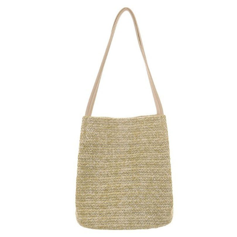 Weaving Bucket Straw bag  1