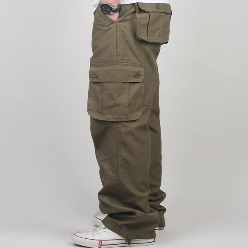 30-44 Plus größe Hohe Qualität Männer Cargo Pants Lässige Herren - Herrenbekleidung - Foto 3