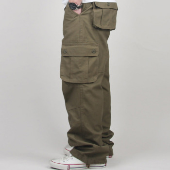 30-44 Plus size High Quality Men's Cargo Pants Casual Mens Pant Multi Pocket Military Tactical Long Full Length Trousers 4