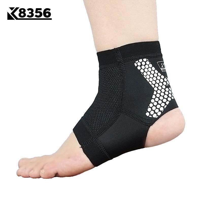 K8356 Apoio Tornozelo Esportes Respirável Homens Tira De Silicone Anti-slip Ankle Brace Aptidão Das Mulheres Correndo Sports Segurança Tornozelo Guarda
