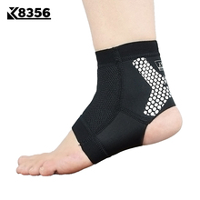 K8356 Breathable Sports Ankle Support Silicone Strip Anti-slip Ankle Brace Men Women Fitness Running Sports Safety Ankle Guard