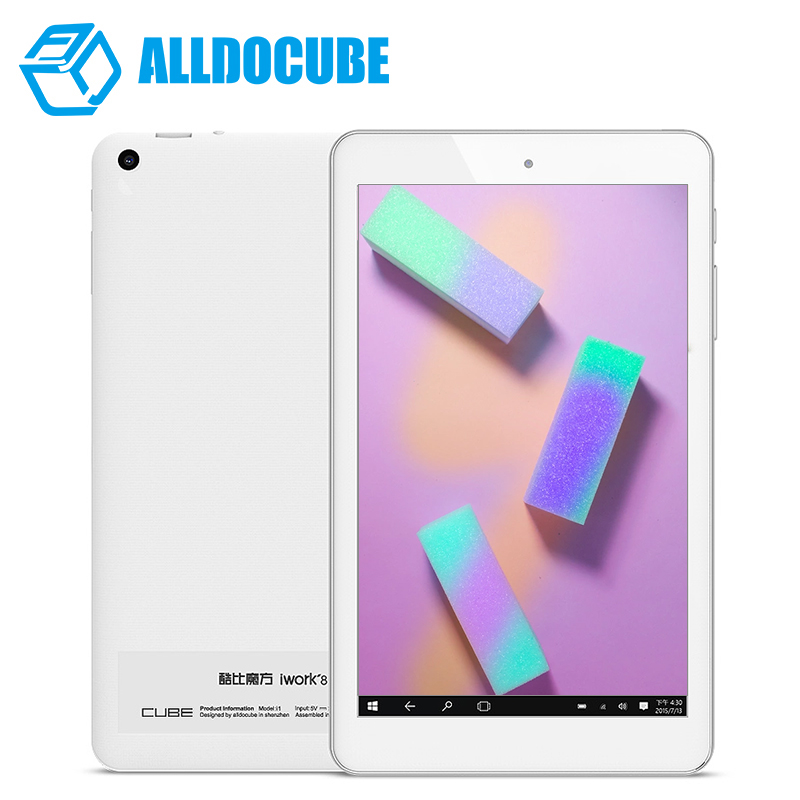 ALLDOCUBE 8 IPS 1920*1200 iwork8 Air Pro Dual Boot Tablet PC Windows10 + Android 5.1 Intel Atom X5 Z8350 Quad Core 2GB 32 GB vido w8c intel z3735f quad core 1 3ghz 8 inch ips dual boot tablet