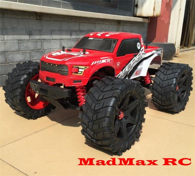 Monster Truck Rc Cars >> MadMax wheel tire set + extedned adapter for CEN RACING CEN REEPER monster truck 1/7 scale-in ...