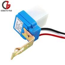 Interrupteur avec capteur photocellule, allumage/extinction automatique pour luminaire urbain, 12V 10a, AC/DC, commande Photo, AC/DC
