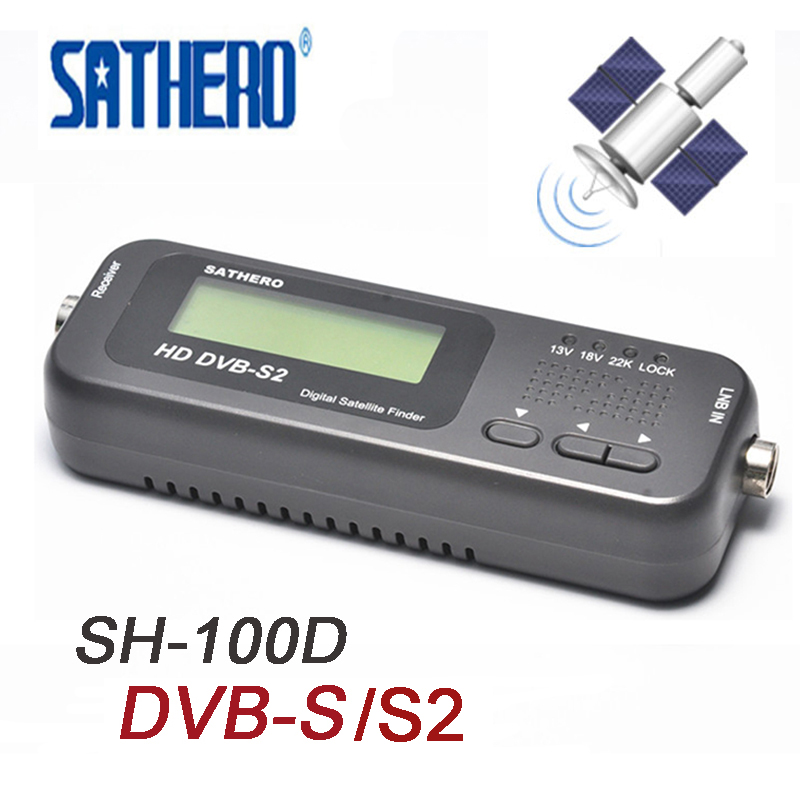 Sathero SH-100HD Mini Digital Satellite Finder TV Signal Strength Satfinder DVB S2 LCD HD Sat Finder Satellite Meter PK v8 digital satellite satfinder meter satellite finder lcd sat finder satellite signa