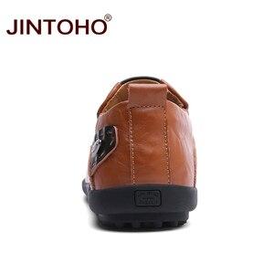 Image 5 - JINTOHO 2019 Men Leather Shoes Brand Mens Fashion Shoes Men Casual Leather Shoes Genuine Leather Men Loafers Boat Shoes
