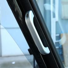 цена на 2pcs For Land Rover Defender 110 For Landrover Defender 90 Car Interior Matte Chrome Aluminum Alloy Grab Handle Trim Accessories