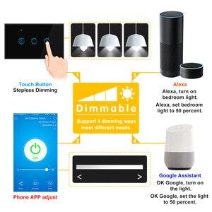 Image 5 - חכם אלחוטי מתג מגע שליטת Dimmable פנל מתג תואם עם אמזון Alexa גוגל עוזר עמעום הנורה במתנה