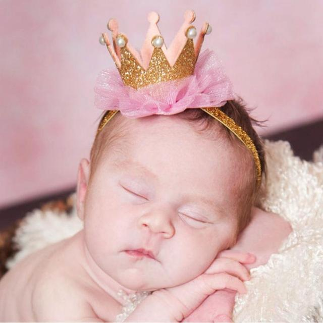 1 PC Girl s Head Accessories hairband Baby Princess Queen Rhinestone Tiara  Hair Band Headband Kids Elastic 8337f8da2817