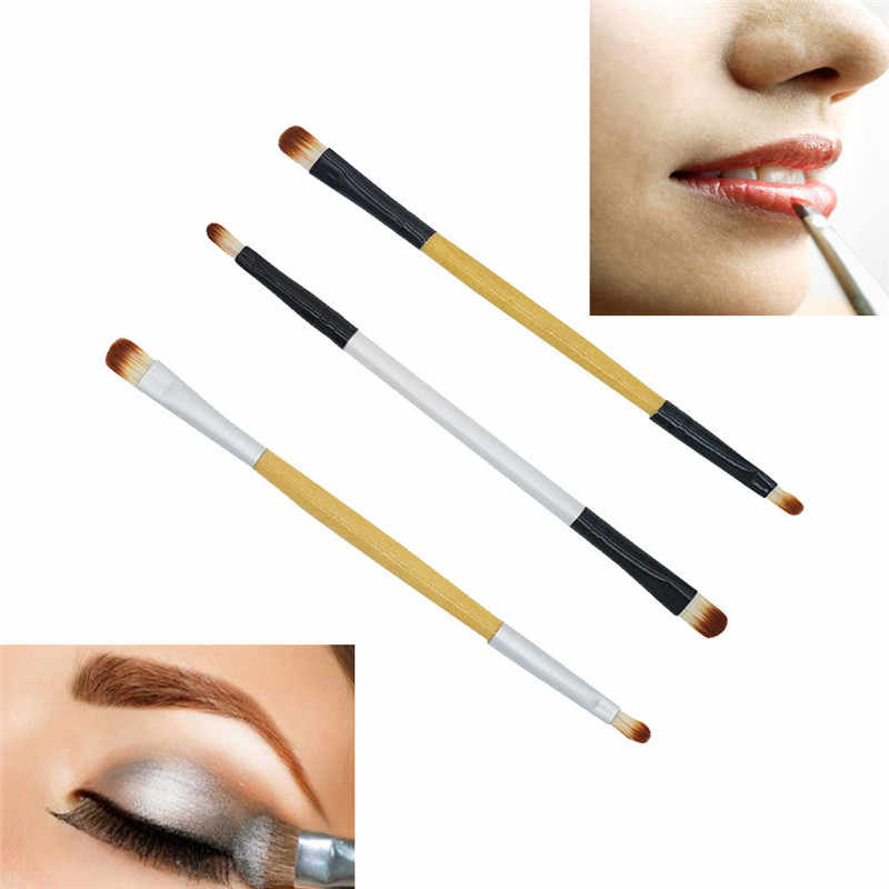 2018 NIEUWE Make-Up Kwasten Make-Up Borstel Dubbele-end Oogschaduw Lip Brush Applicator Make-Up Cosmetische Tool Borstels Make Up 1030X23 1 5