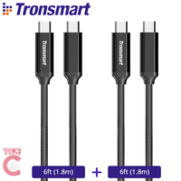 Tronsmart CPP4 USB Type C Cable USB C To USB C 2 0 Cable For Charger
