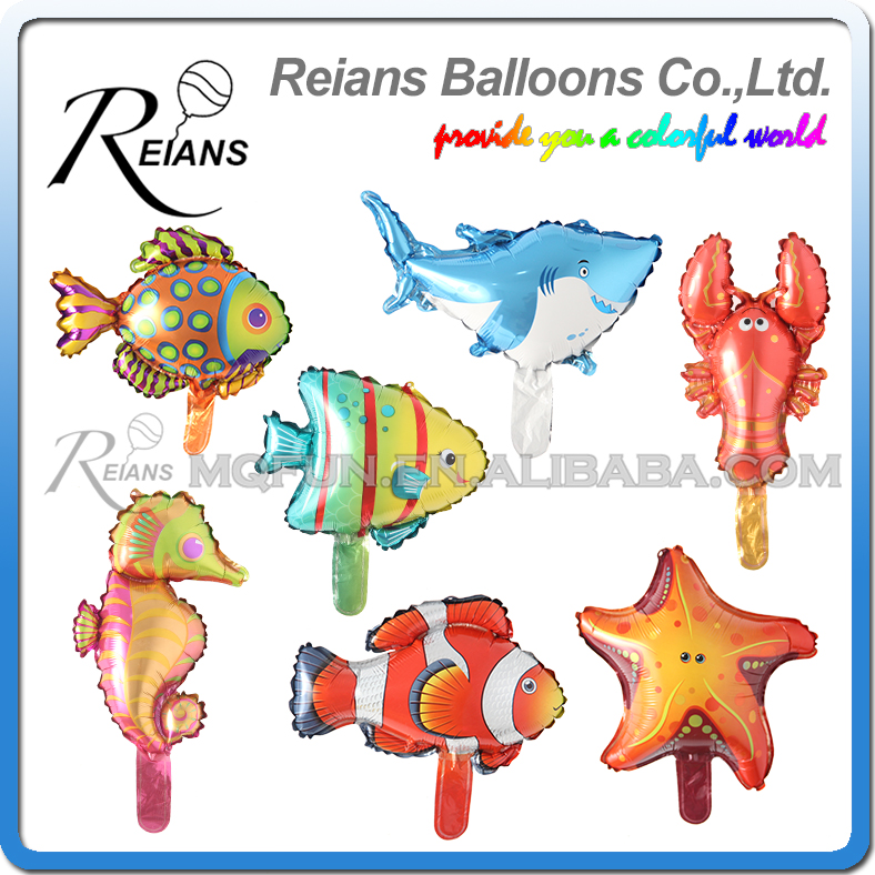 Wholesales 300pcs cartoon Animals Foil Balloons Sea Animals Fish Inflatable Air Ballons Birthday Party Decor Supplies