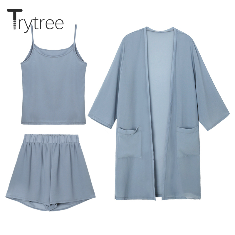 Trytree Women Καλοκαίρι τριών τεμαχίων Σετ - Γυναικείος ρουχισμός - Φωτογραφία 1