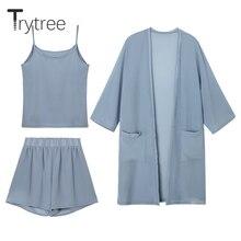 Trytree női nyári háromdimenziós készlet Alkalmi nadrág + nadrág + Cami felső női ruhák készlet Női ruhák 3 darabos készlet