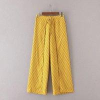 Moda nowy druk koronki z otwartymi talii elastyczny pas spodnie spodnie spódnica