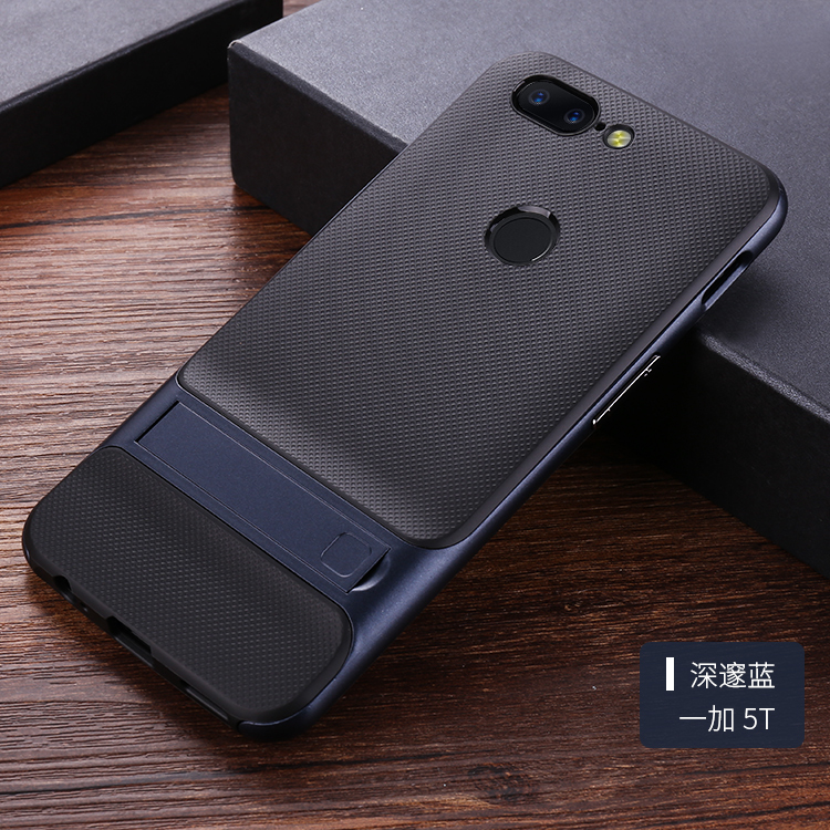 For Oneplus 5T case 360 Protective Kickstand PC+TPU Shock Proof Holder Case For One plus ...