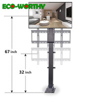 ECOworthy Motorised TV Lift for Large Screen 32~70 Adjustable Electronic TV Mount 900mm 700N & Remote Control US/EU/UK Plug