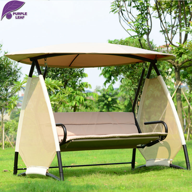 PurpleLeaf Patio Garden Swing Special Maple Leaves Shape Style Hanging  Chair Outdoor Furniture With Cushion(